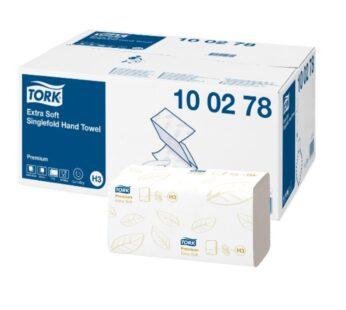 Rankšluostinės servetėlės TORK Extra Premium H3, 2sl., 100278, 11,5 x 22,6 cm, balta sp. 200 lap.